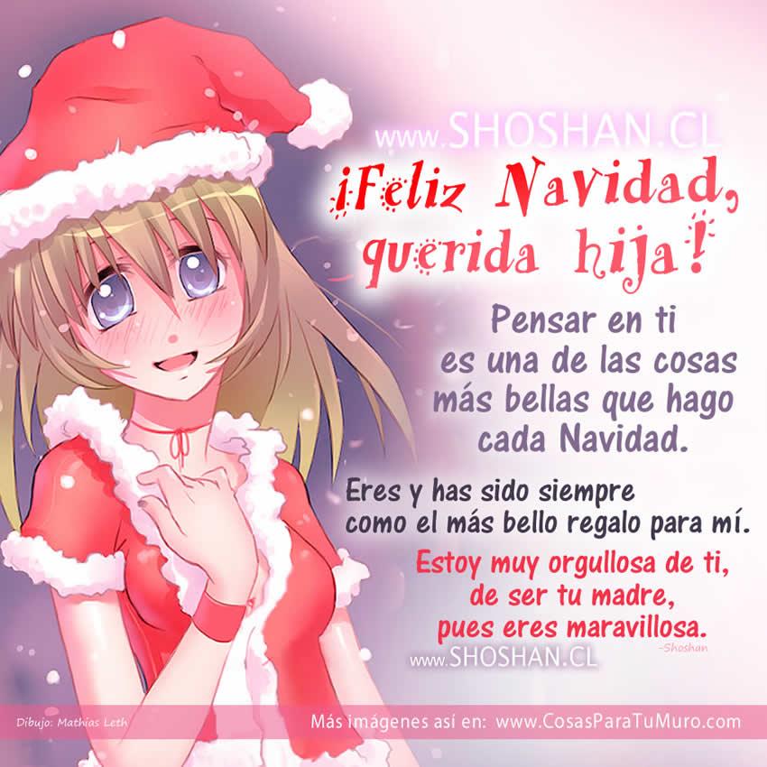 Feliz navidad hija