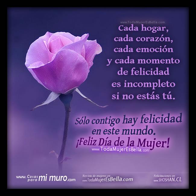 Feliz Merecido Día De La Mujer